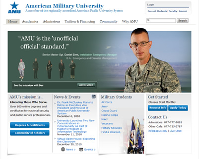 hire an expert to work on your AMU american military university class online